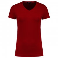 T-shirt v-hals slim fit dames