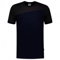T-shirt bi-color naden heren