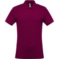 Short sleeved 100% cotton pique polo shirt heren