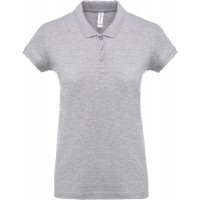 Short sleeved 100% cotton pique polo shirt dames