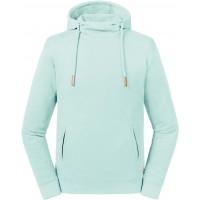 Hooded sweater met opstaande kraag pure organic unisex