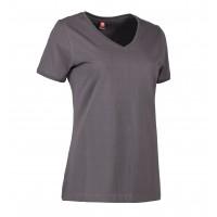 Eco label t-shirt v-hals dames