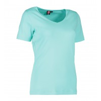 Dames interlock t-shirt V-neck