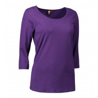 Dames stretch t-shirt 3/4 sleeved